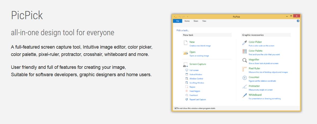 PicPick una de las mejores utilidades para el desarollador web